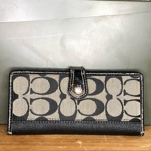 Coach Black Signature Wallet